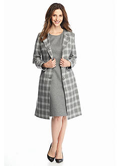 John Meyer Long Plaid Jacket Dress Suit