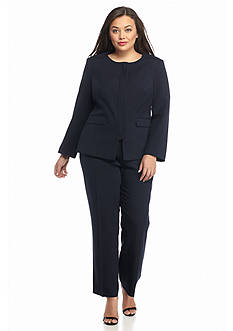 John Meyer Plus Size Solid Pant Suit