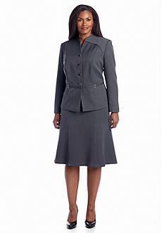 John Meyer Plus Size Gray Skirt Suit