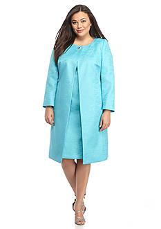 John Meyer Plus Size Jewel Button Dress Suit