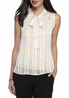 Tommy Hilfiger Sheer Dot Top