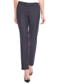 Anne Klein Flat Front Slim Pants
