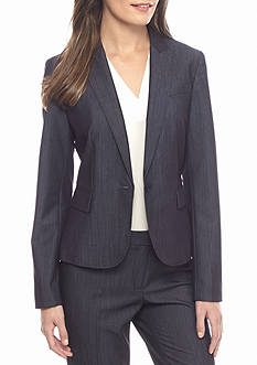 Anne Klein Denim Single Button Jacket
