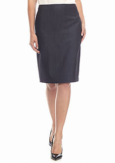 Anne Klein Solid Slim Skirt