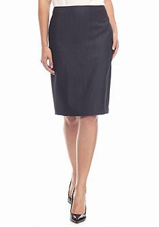 Anne Klein Solid Slim Skirt