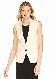 Anne Klein Double Weave Vest