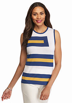 Anne Klein Colorblock Sweater Tank