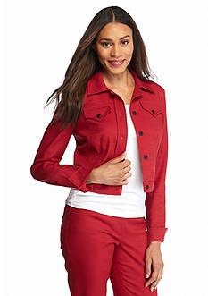 Anne Klein Jean Style Pique Jacket