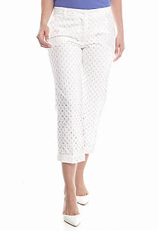 Anne Klein Eyelet Cuffed Pants