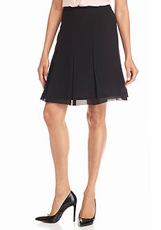 Anne Klein Chiffon Pleat Skirt