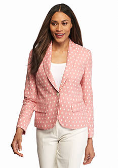 Anne Klein Jacquard One Button Jacket