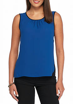 Anne Klein Contrast Sleeveless Blouse