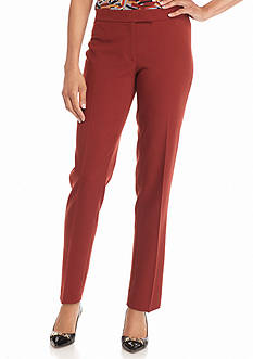 Anne Klein Solid Straight Pants