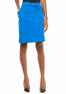 Anne Klein Bow Front Tailored Skirt