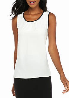 Anne Klein Pleated Front Blouse