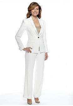 Tahari ASL Pant Suit with Seam Detail
