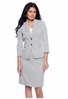 Tahari ASL Seersucker Skirt Suit