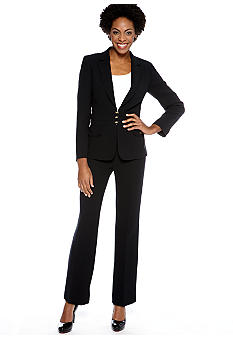 Tahari ASL Pant Suit with Waist Detail