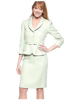 Tahari ASL Shawl Collar Skirt Suit