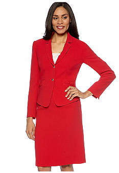 Tahari ASL Skirt Suit with Bow Pockets