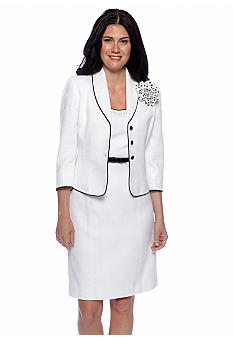 Tahari ASL White Dress Suit