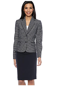 Tahari ASL Navy Skirt Suit