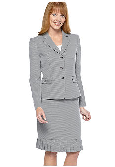 Tahari ASL Houndstooth Skirt Suit