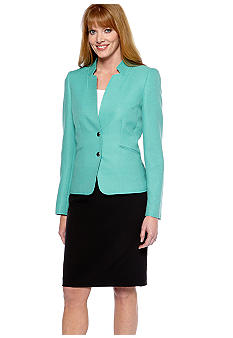 Two-Tone Skirt Suit