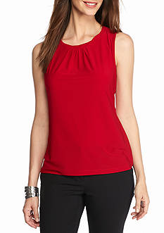 Tahari ASL Twist Neck Jersey Knit Top