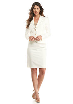 Tahari ASL Solid Skirt Suit