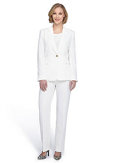 Tahari ASL Solid Tailored Pant Suit
