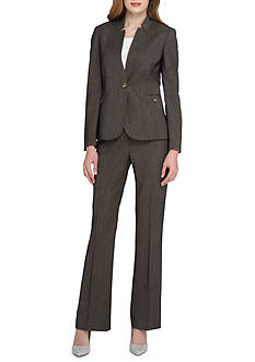 Tahari ASL Solid Single Button Pant Suit
