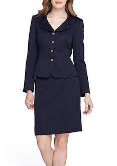 Tahari ASL Jacquard Skirt Suit