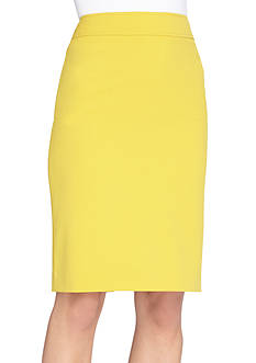 Tahari ASL Solid Tailored Skirt