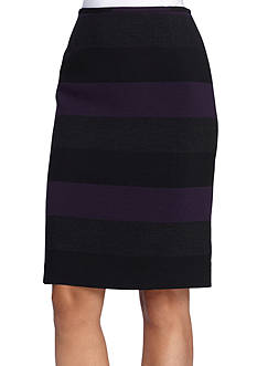 Tahari ASL Wide Stripe Skirt