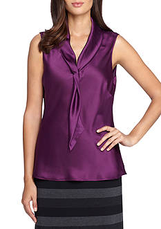 Tahari ASL Sleeveless Blouse
