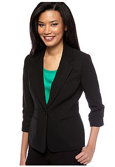 Nine West Crepe Notch Collar Jacket