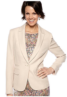 Nine West Suit One-Button Suit Blazer