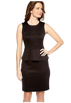 Nine West Suit Sleeveless Peplum Dress