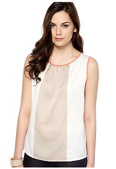 Nine West Suit Pleated Colorblock Cami
