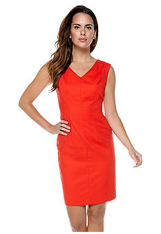 Nine West Suit V-Neck Sheath Dress