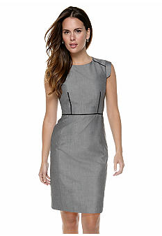 Nine West Suit Sharkskin Seamed Dress