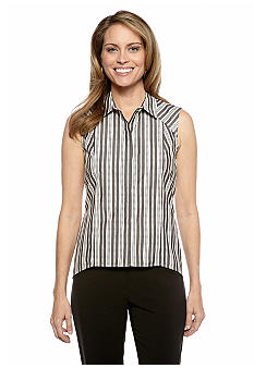 Nine West Suit Striped Placket Blouse