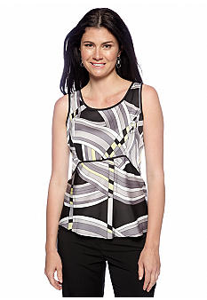 Nine West Suit Abstract Print Cami