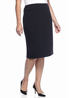 Nine West Plus Size Bi-Stretch Skirt