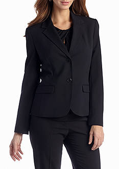 Nine West 2 Button Bi Stretch Notch Lapel Jacket