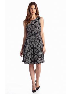 Nine West Suit Jacquard Flare Dress
