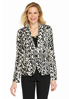 Nine West Single Button Print Jacket