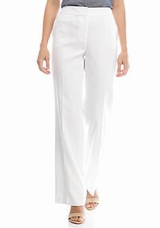 Nine West Lined Solid Linen Pants