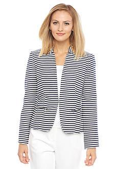 Nine West Stripe Tweed Jacket